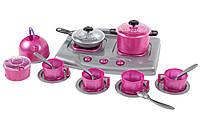 Детская посудка (19 предметов),игрушечная посуда,плита 30х20 см, фото 1