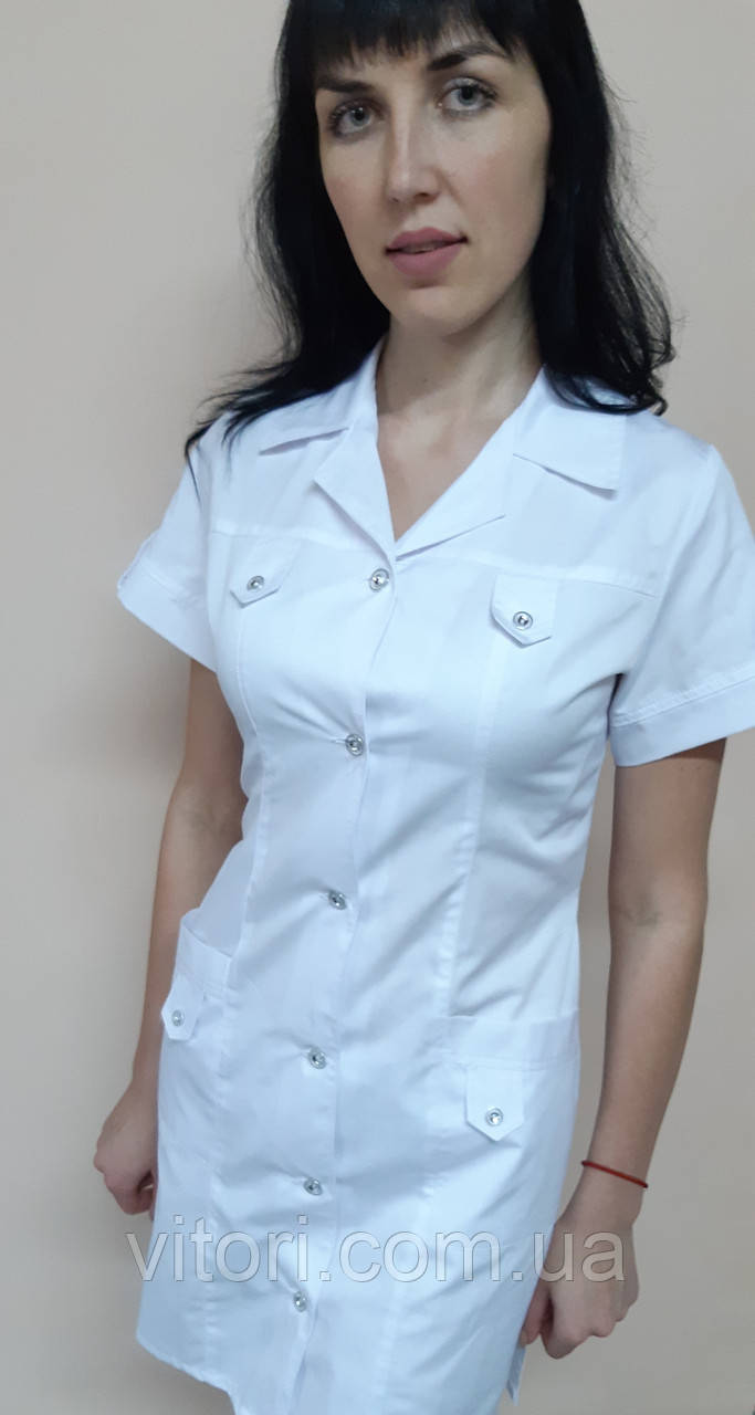 Медицинский женский халат Танго коттон короткий рукав