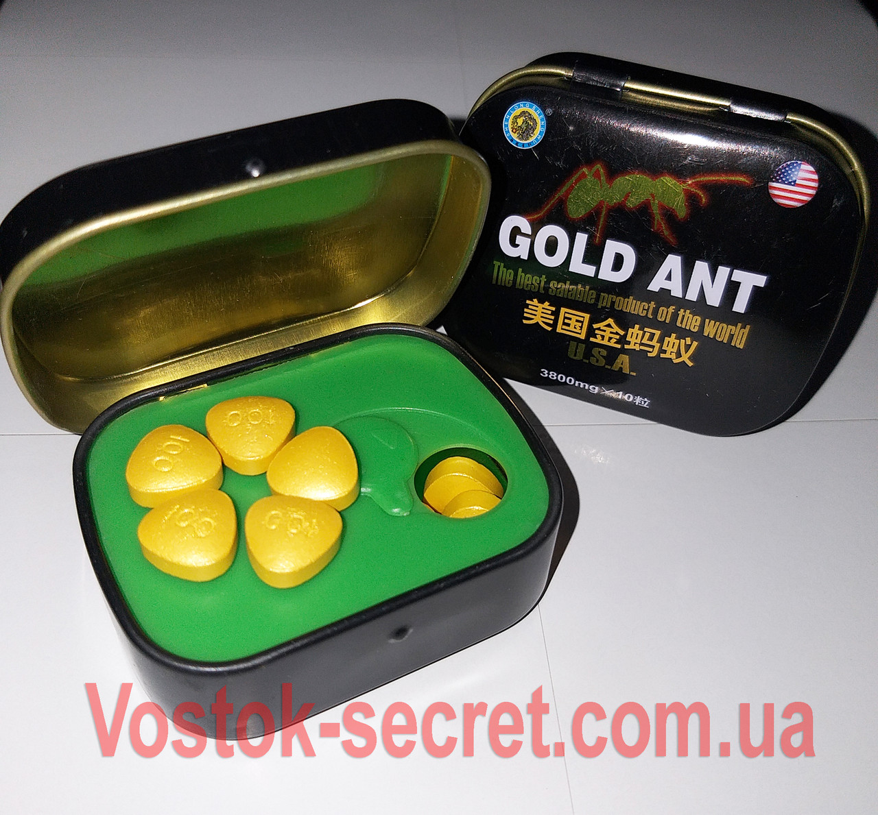 Золотой Муравей - Gold Ant - Препарат для потенции, 10табл*3800мг. (Голд ант)