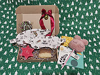 """Подарочный набор для девушки с мылом ручной работы и 2 масками для сна """"единорог"""""""