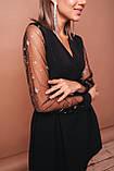 Платье женское нарядное в сеточку чёрное 42-44,44-46, фото 2