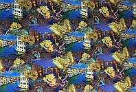 """Подарочная бумага для упаковки подарков """" Карнавальные маски """" , размер 707х1000 мм"""