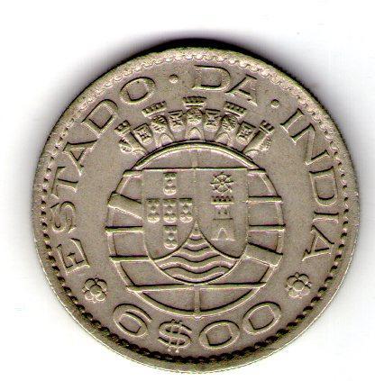 Португальская Индия 6 эскудо 1959  №170