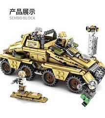 Детский конструктор Военная машина SEMBO 101341 395 деталей