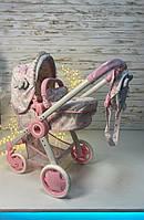 Коляска-трансформер для кукол с рюкзачком-сумочкой 80534