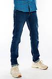 """Джинсы мужские длинные Franco Benussi 21-506 TORINO L 36""""  темно-синие., фото 5"""