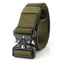 Ремень тактический Assault Belt с металлической пряжкой 125 см Зеленый