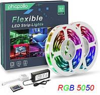 Комплект - Світлодіодна стрічка + пульт + контроллер + адаптер LED SMD 5050 RGB