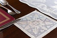 Салфетка костер Рождественская MYB хлопковая Madras 15х15см золотая 10200Н-6