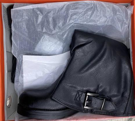Сапоги женские зимние 8 пар в ящике черного цвета 36-40, фото 3