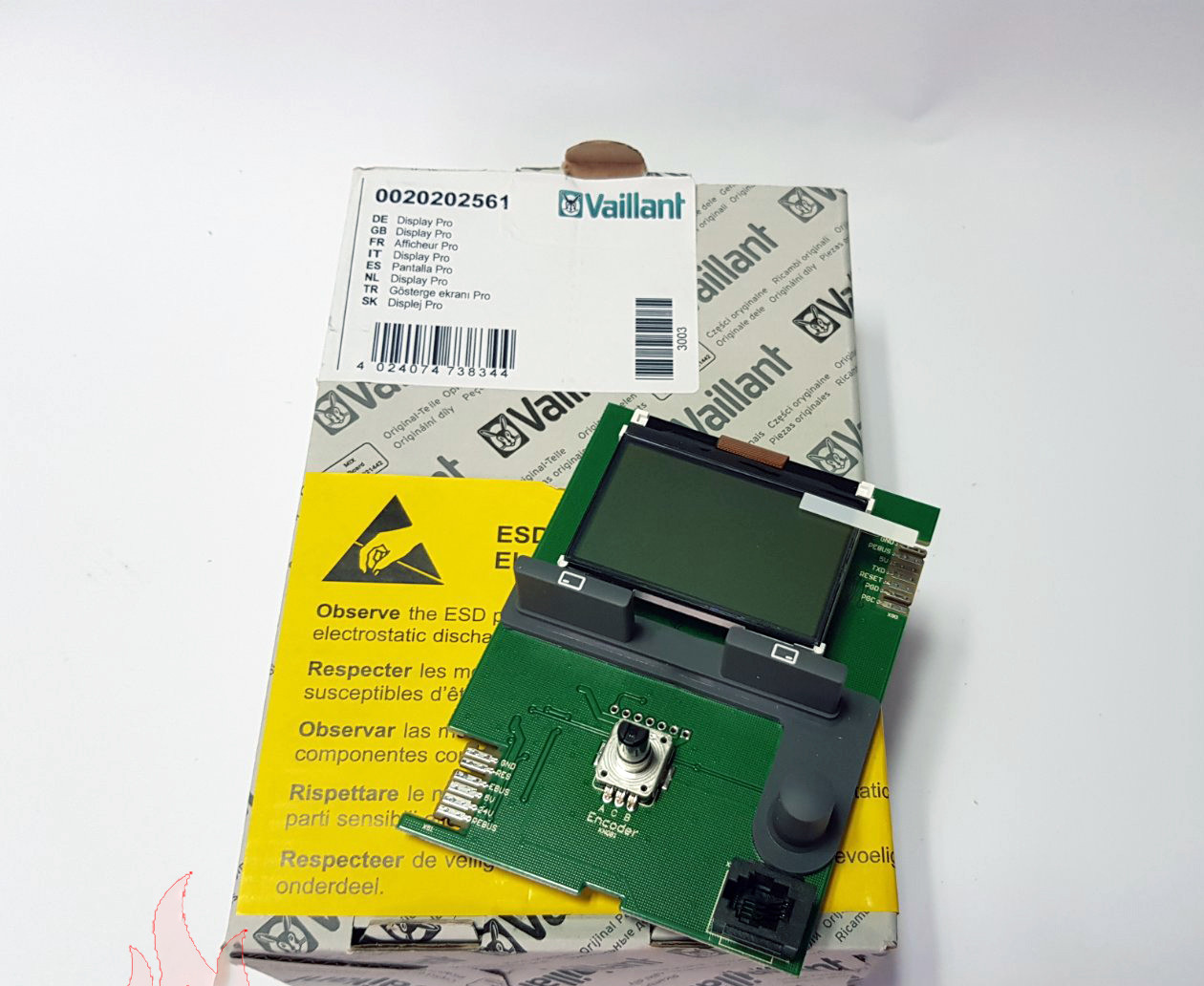 Плата интерфейса (дисплея) Vaillant AtmoTEC Pro, TurboTEC Pro 0020202561