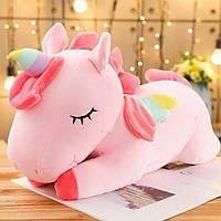 Плед подушка игрушка Единорог трансформер 3 в 1 Розовый