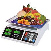Торговые электронные весы Alfasonic с аккумулятором до 50 кг и счетом цены и суммы покупки