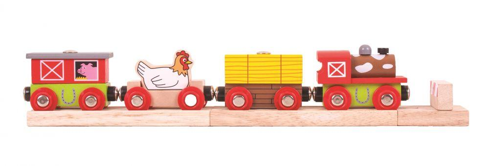 Фермерський потяг для деревянной дороги Bigjigs Вликобританія