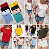 Базовая однотонная женская футболка 42-44 (в расцветках), фото 10