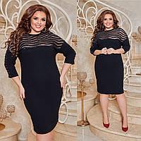 Платье женское с пайеткой в большом размере, фото 1