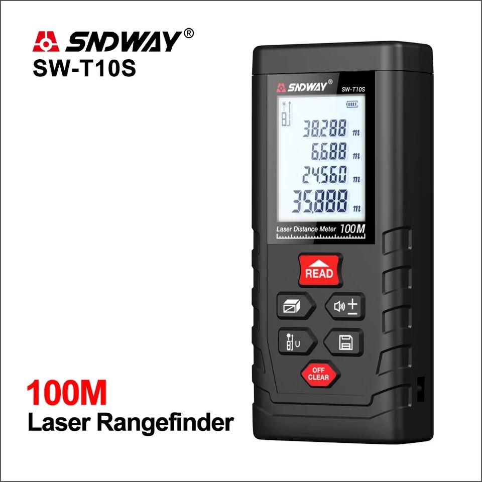 Лазерная рулетка SNDWAY SW-T10S Лазерный дальномер до 100 метров