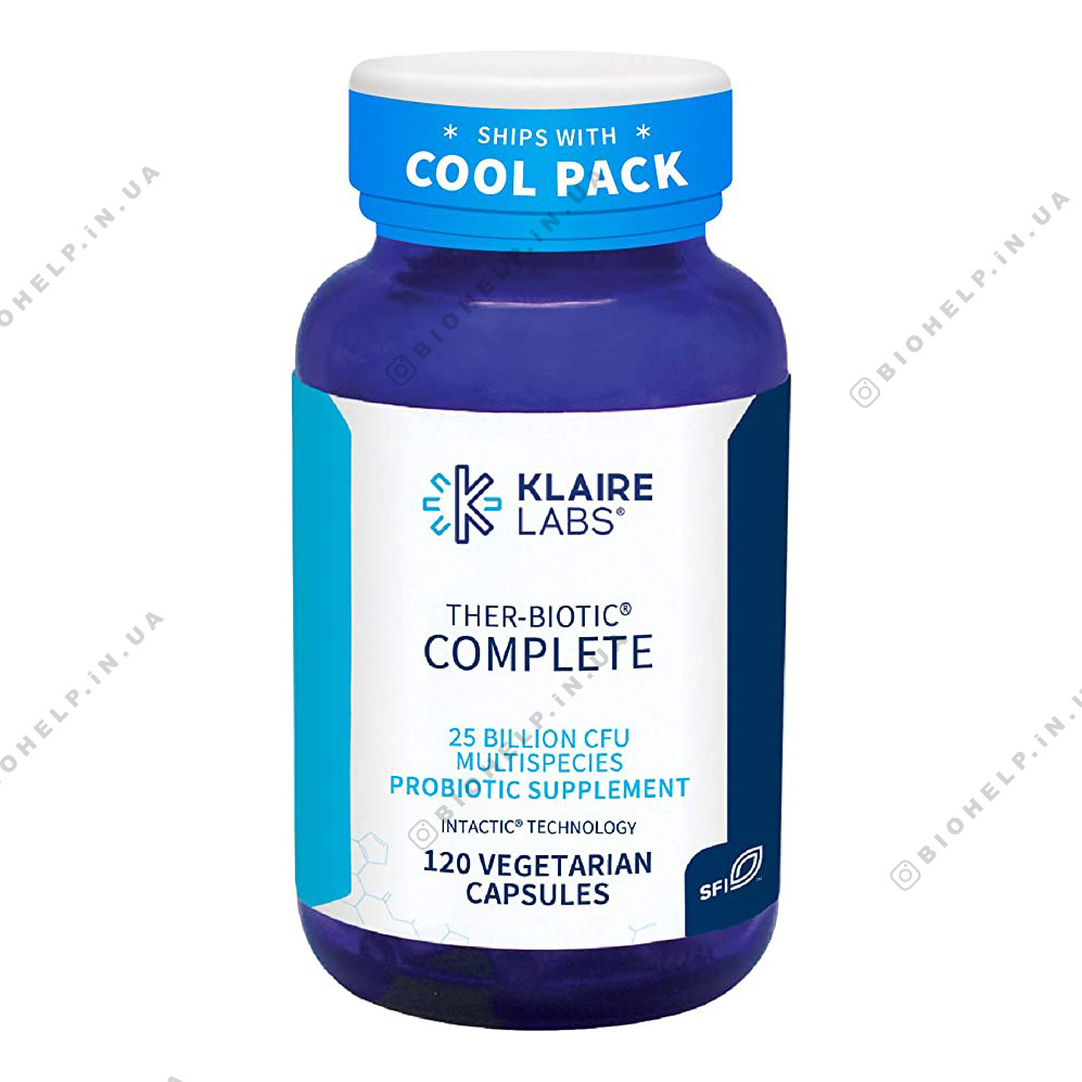 Klaire Labs, Ther-Biotic Complete Probiotic 25 Billion 120 Caps. (Комплексный Термобиотический пробиотик 25