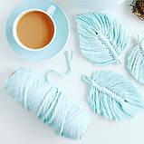 Шнур хлопковый крученный Макраме 4мм №13 Голубой, фото 4