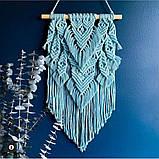 Шнур бавовняний крученный Макраме 4мм №13 Блакитний, фото 5
