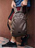 Подростковый рюкзак мужской для парня подростка старшеклассника, студента матовая эко-кожа коричневый, фото 5