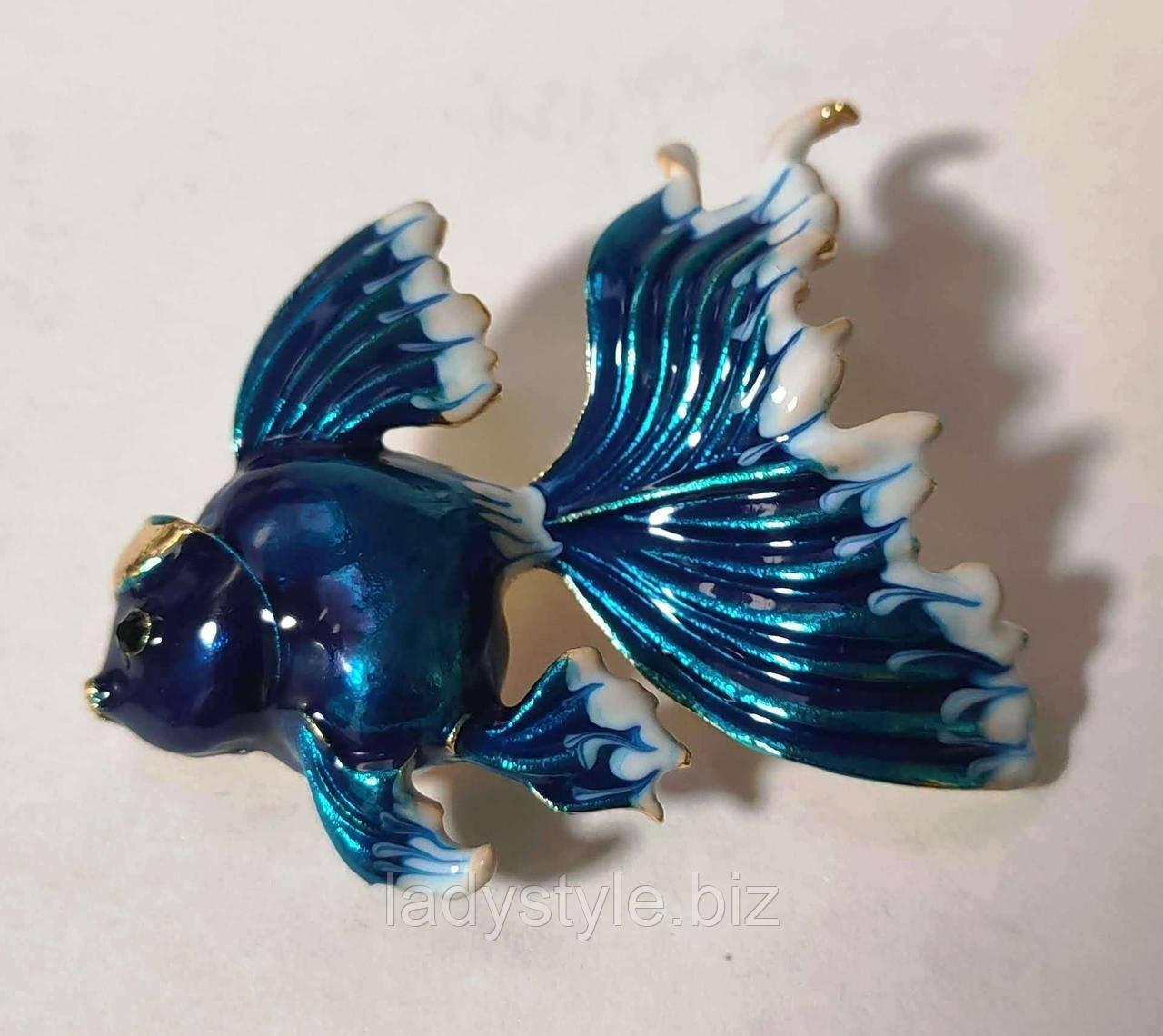 """Брошь """"Золотая рыбка"""" от студии LadyStyle.Biz"""