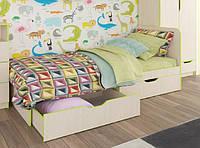 Детская кровать с выдвижными ящиками МАТЕО ф-ка Феникс дуб молочный