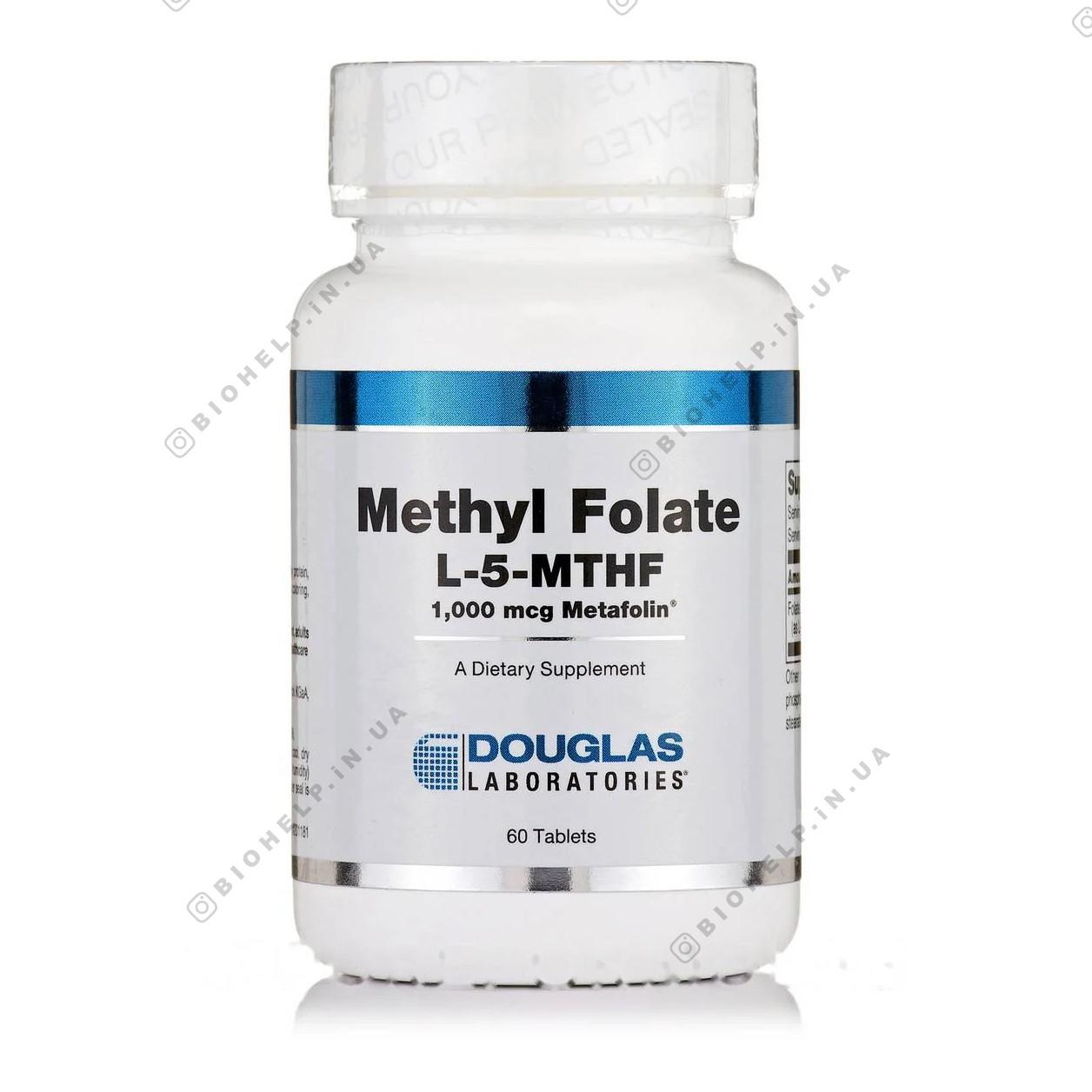 Метил-Фолат L-5-MTHF, Methyl Folate L-5-MTHF, Douglas Laboratories, 60 таблеток