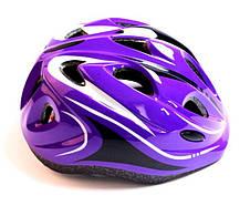 Шлем с регулировкой размера. Фиолетовый цвет. - Защитные шлемы для спорта, фото 2