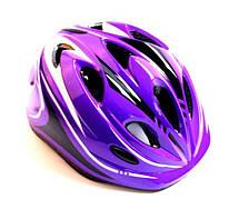 Шлем с регулировкой размера. Фиолетовый цвет. - Защитные шлемы для спорта, фото 3