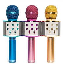 Беспроводной микрофон-караоке WSTER WS-858. Микс цветов - Микрофоны