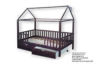 Кроватка домик с ящиками 01 - Детские и подростковые кровати
