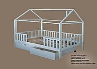 Кроватка домик с ящиками 02 - Детские и подростковые кровати