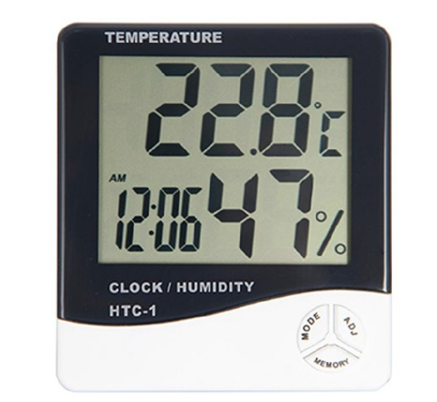 Термометр-гигрометр с часами