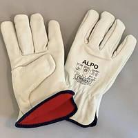 Перчатки кожаные утеплённые на флисовой подкладке размер 11 Украина, фото 1