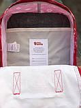 Молодежный рюкзак - сумка канкен Fjallraven Kanken classic red 16 л. красный с принтом, фото 8