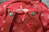 Модный женский рюкзак - сумка красный с рисунками канкен Fjallraven Kanken classic red 16 литров, фото 8
