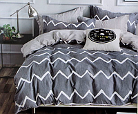 Двоспальне постільна білизна з простирадлом на резинці ялинка