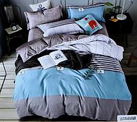 Двоспальне постільна білизна з простирадлом на резинці