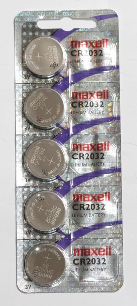 Батарейка литиевая MAXELL CR2032 Упаковка 5 шт
