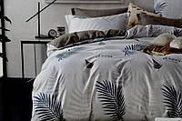Двоспальне постільна білизна з простирадлом на резинці - Пальма