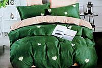 Двоспальне постільна білизна з простирадлом на резинці пристрасть