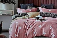 Двоспальне постільна білизна з простирадлом на резинці гламур