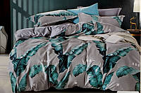 Двоспальне постільна білизна з простирадлом на резинці модне