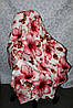 Махровий полуторна покривало рожеві квіти