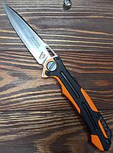 Нож Нокс Фантом D2, подшипник, G10 чёрно-оранжевый, +паракорд