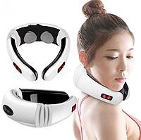 Електростимулятор масажер для шиї фізіотерапія Cervical vertebra Neck Massager