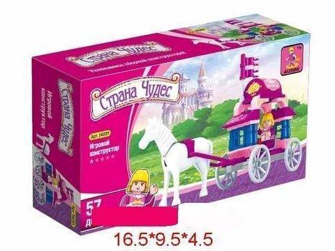 """Конструктор """"Страна чудес: Карета с лошадью"""", 57 деталей"""
