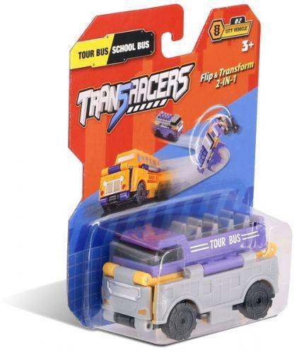 """Детская машинка-трансформер 2 в 1 """"Trans Racers"""", туристический и школьный автобус"""