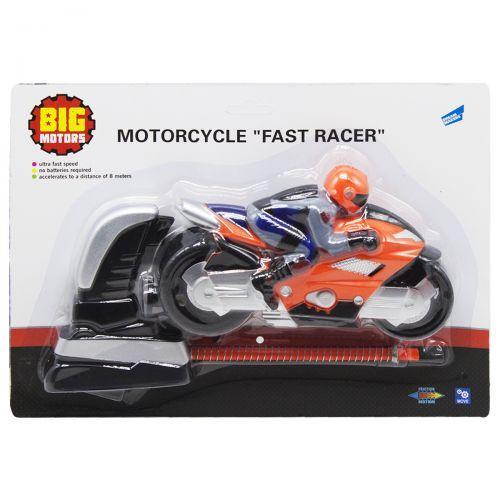 """Детский игрушечный Мотоцикл """"Гонщик"""", оранжевый"""